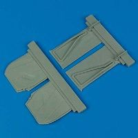 Quickboost P51B Undercarriage Covers for Trumpeter Plastic Model Aircraft Accessory 1/32 Scale #32061