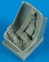 Quickboost Bf109E Seat w/Safety Belts Plastic Model Aircraft Accessory 1/32 Scale #32133
