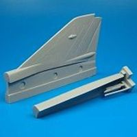 Quickboost Mig21MF Correct Spine & Vertical Tail Plastic Model Aircraft Accessory 1/48 #48035