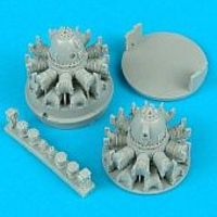 Quickboost P61 Engines for Revell-Monogram Plastic Model Aircraft Accessory 1/48 Scale #48055