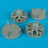 Quickboost DC3 Dakota C47 Engines for RMX Plastic Model Aircraft Accessory 1/48 Scale #48081
