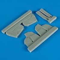 Quickboost P47D Undercarriage Covers for Hasegawa Plastic Model Aircraft Accessory 1/48 Scale #48086