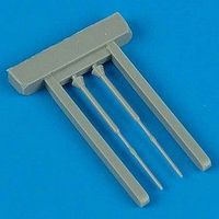 Quickboost Su27 Flanker B Pitot Tubes (2) Plastic Model Aircraft Accessory 1/48 Scale #48125