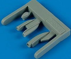 Quickboost Yak38 Forger A Air Scoops for HBO Plastic Model Aircraft Accessory 1/48 Scale #48409
