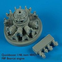 Quickboost F8F Engine for Hobbyboss Plastic Model Aircraft Accessory 1/48 Scale #48421