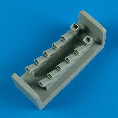 Quickboost IL2 Sturmovik Exhaust for Tamiya -- Plastic Model Aircraft Accessory -- 1/48 Scale -- #48478