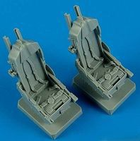 Quickboost F5F Seats w/Safety Belts for AFV Plastic Model Aircraft Accessory 1/48 Scale #48489