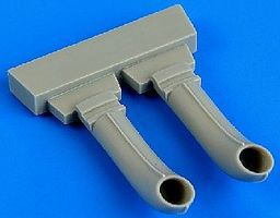 Quickboost C45 Exhaust for ICM Plastic Model Aircraft Accessory 1/48 Scale #48653