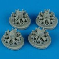 Quickboost B24D Engines (4) for Hasegawa Plastic Model Aircraft Accessory 1/72 Scale #72140