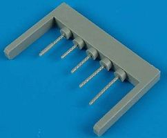 Quickboost P38 Gun Barrels for Academy Plastic Model Aircraft Accessory 1/72 Scale #72304