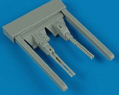 Quickboost Mi24 Hind Guns (2) for Zveda -- Plastic Model Aircraft Accessory -- 1/72 Scale -- #72316