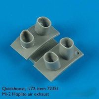 Quickboost Mi2 Hoplite Exhaust for Hobbyboss Plastic Model Aircraft Accessory 1/72 Scale #72351