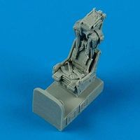 Quickboost F8 Ejection Seat w/Safety Belts Plastic Model Aircraft Accessory 1/72 Scale #72406