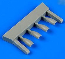 Quickboost BAe Hawk Mk I Correct Air Intakes for Airfix Plastic Model Aircraft Accessory 1/72 #72466