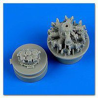 Quickboost F4F4 Wildcat Engine for Airfix Plastic Model Aircraft Accessory 1/72 Scale #72518
