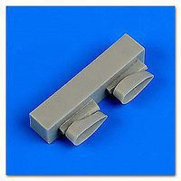 Quickboost F4F4 Wildcat Exhaust for Airfix Plastic Model Aircraft Accessory 1/72 Scale #72519