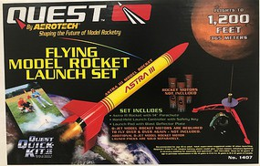 Quest Astra III Model Rocket Launch