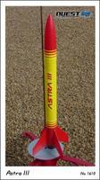 Quest Astra III Model Rocket Quick Kit Level 1 Model Rocket Kit #1610