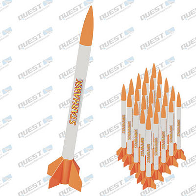 Quest Starhawk Value Pack Model Rocket Kits Skill Level 1 (12) -- Model Rocket Kit Educator Pack -- #5483