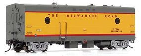 Rapido Steam Generator Car Milwaukee Road #74 HO Scale Model Train Passenger Car #107221