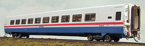 Rapido LRC Coach Amtrak No Number (white, blue, red) HO Scale Model Train Passenger Car #108032
