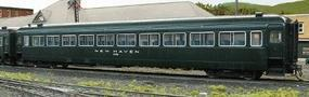 Rapido PS Osgood-Bradley 10-Window Coach, Full Skirt, Interior Detail & Lighting New Haven Phase I #8200 (Hunter Green) - HO-Scale