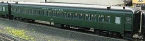 Rapido PS Osgood-Bradley 10-Window Coach, No Skirt, Interior Detail & Lighting New Haven #8201 (Forest Green, green Window Frames) - HO-Scale