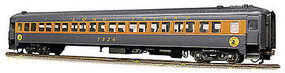 Rapido P-S Osgood-Bradley Lightweight 10-Window Coach 3-Pack- Ready to Run Long Island Rail Road #7523, 7545 & 7550 (gray, orange, Dashing Dan Logo) - HO-Scale (3)