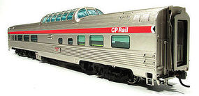 Rapido Budd Dome CP #516 Act Red HO Scale Model Train Passenger Car #116021