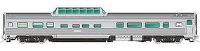 Rapido Budd Dome Unlettered Steel HO Scale Model Train Passenger Car #116038
