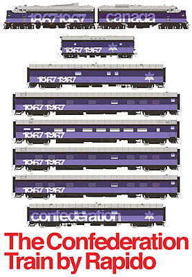 Rapido Trains Inc. Ho CONFEDERATION TRAIN SET