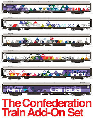 Rapido Ho CONFEDERATION TRAIN Add-On
