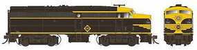Rapido Alco FA-2 - Standard DC Erie #736-A (As-Delivered, black, yellow)