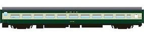 Rapido The Panorama Line(TM) Coach, Lighted, Assembled, MT Couplers Erie #1002 - N-Scale