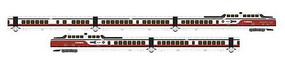 Rapido United Aircraft TurboTrain 5-Car Train Only Set Standard DC Amtrak #PCD-28, IC-36, IC-29, IC-37, PDC-29 (Early Scheme, white, red, black N-Scale