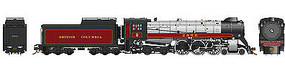 Rapido CP Class H1e 4-6-4 Royal Hudson w/Oil Tender - Standard DC British Columbia Railway #2860 (maroon, gray, black)