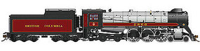 Rapido CP Class H1e 4-6-4 Royal Hudson w/Oil Tender - Sound & DCC British Columbia Railway #2860 (maroon, gray, black)