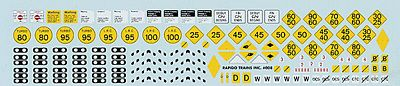 Rapido Trains Inc. Trackside Sign Decals -- Canadian National - HO-Scale