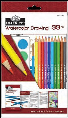Royal-Brush Learn to Watercolor Drawing Art Set (33pc)