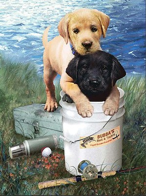 Royal-Brush Fishin Buddies (Puppies)(8.75x11.75) Paint By Number Kit #37395