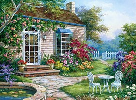 Royal-Brush Spring Patio (Cottage Scene) Paint by Number Age 8+ (11.25''x15.375'')