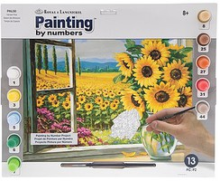Royal-Brush Harvest Time (Sunflowers) Paint by Number Age 8+ (11.25''x15.375'')