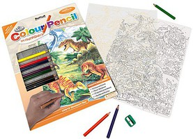 Royal-Brush Dinosaurs Day (8.75''x11.75'') Pencil By Number Kit #5712