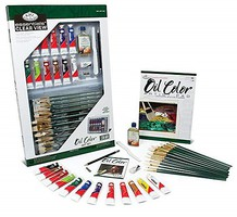 Royal-Brush Essentials Oil Deluxe Art Set in Clearview Case (32pc)