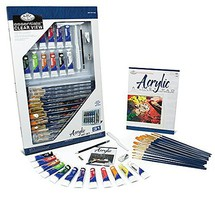 Royal-Brush Essentials Acrylic Deluxe Art Set in Clearview Case (31pc)