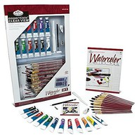 Royal-Brush Essentials Watercolor Deluxe Art Set in Clearview Case (31pc)