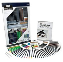Royal-Brush Essentials Sketch & Draw Deluxe Art Set in Clearview Case (79pc)
