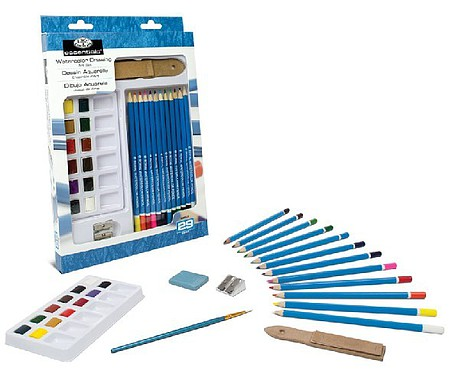 Royal-Brush Essentials Watercolor Pencil Art Set (29pc)
