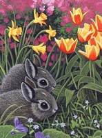 Royal-Brush Spring Bunnies Paint by Number Age 8+ (8.75''x11.75'')