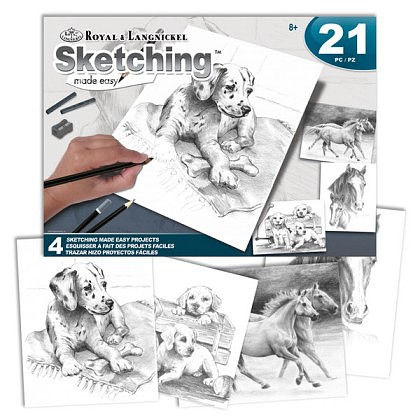 Royal-Brush Pets Sketching Made Easy 21pc Activity Set (4 Projects) (8x10)